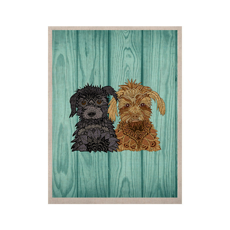 "Art Love Passion ""Daisy and Gatsby"" Abstract Puppies KESS Naturals Canvas (Frame not Included) - KESS InHouse  - 1"