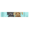 "Art Love Passion ""Daisy and Gatsby"" Abstract Puppies Table Runner - KESS InHouse  - 1"