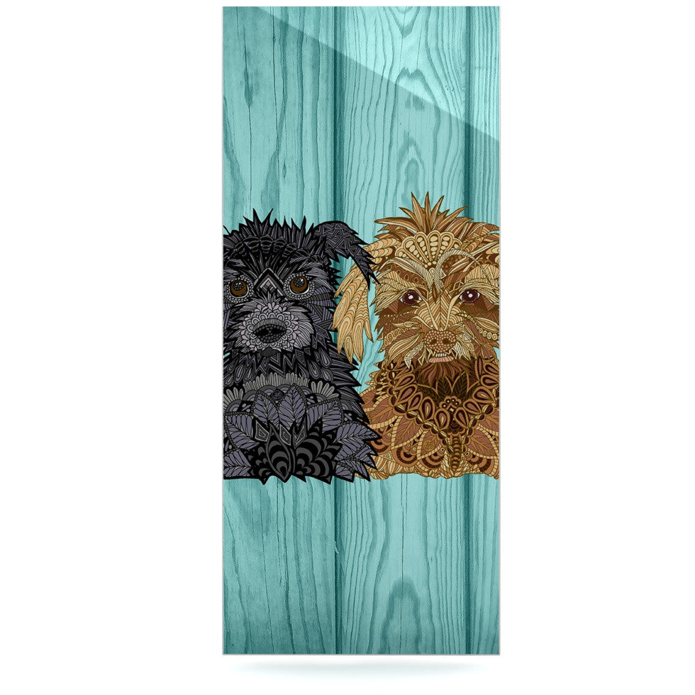 "Art Love Passion ""Daisy and Gatsby"" Abstract Puppies Luxe Rectangle Panel - KESS InHouse  - 1"