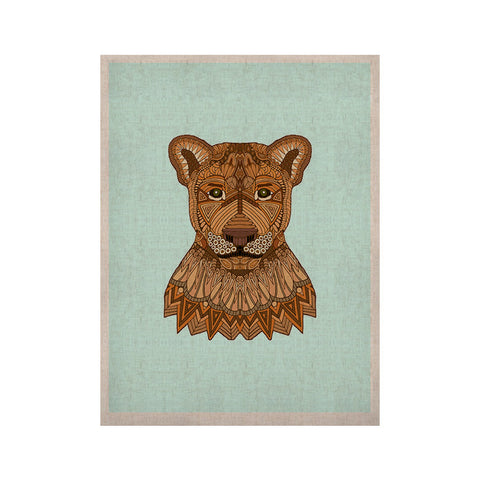 "Art Love Passion ""Lioness"" Blue Brown KESS Naturals Canvas (Frame not Included) - KESS InHouse  - 1"