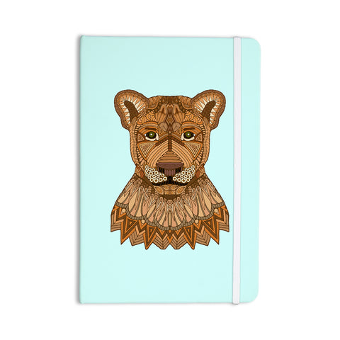 "Art Love Passion ""Lioness"" Blue Brown Everything Notebook - KESS InHouse  - 1"