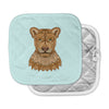 "Art Love Passion ""Lioness"" Blue Brown Pot Holder"