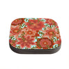 "Art Love Passion ""Flower Power"" Red Floral Coasters (Set of 4)"