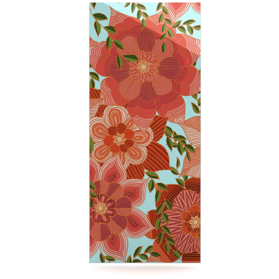 "Art Love Passion ""Flower Power"" Red Floral Luxe Rectangle Panel - KESS InHouse  - 1"