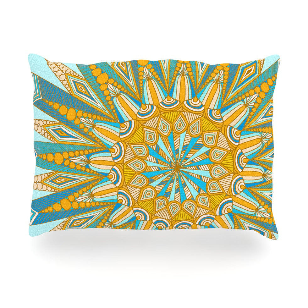"Art Love Passion ""Here Comes The Sun"" Blue Yellow Oblong Pillow - KESS InHouse"