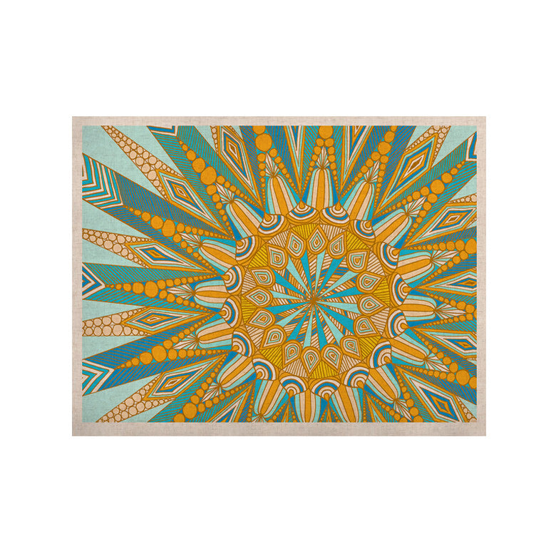 "Art Love Passion ""Here Comes The Sun"" Blue Yellow KESS Naturals Canvas (Frame not Included) - KESS InHouse  - 1"
