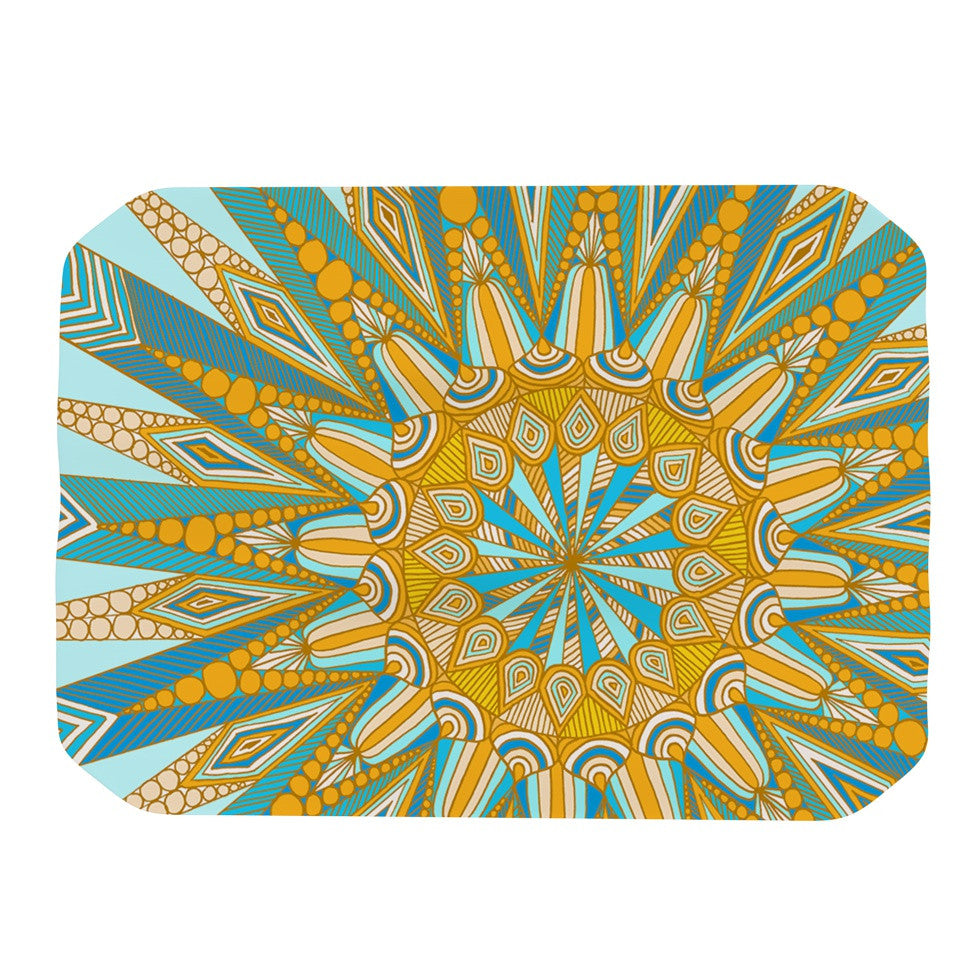 "Art Love Passion ""Here Comes The Sun"" Blue Yellow Place Mat - KESS InHouse"