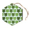 "Art Love Passion ""Lucky You"" Green Shamrock Hexagon Holiday Ornament"