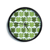 "Art Love Passion ""Lucky You"" Green Shamrock Modern Wall Clock"