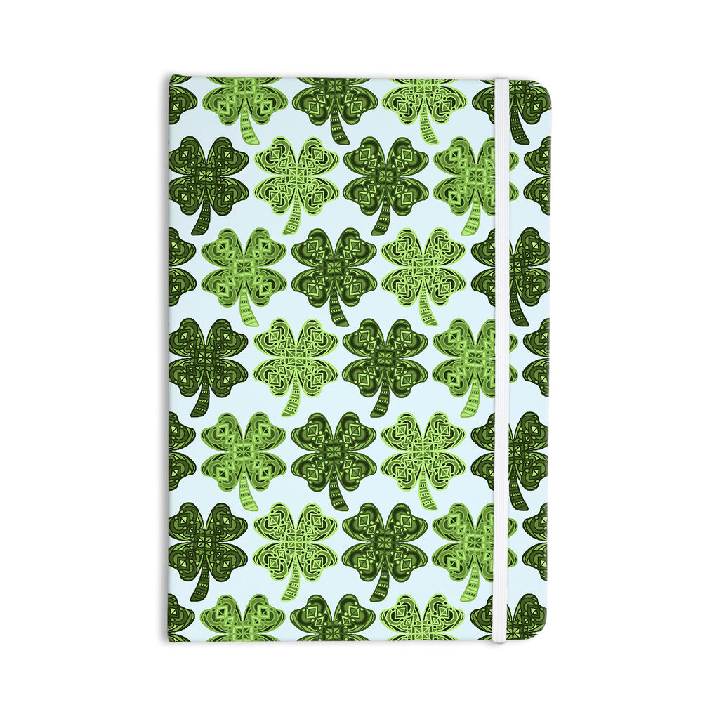 "Art Love Passion ""Lucky You"" Green Shamrock Everything Notebook - KESS InHouse  - 1"