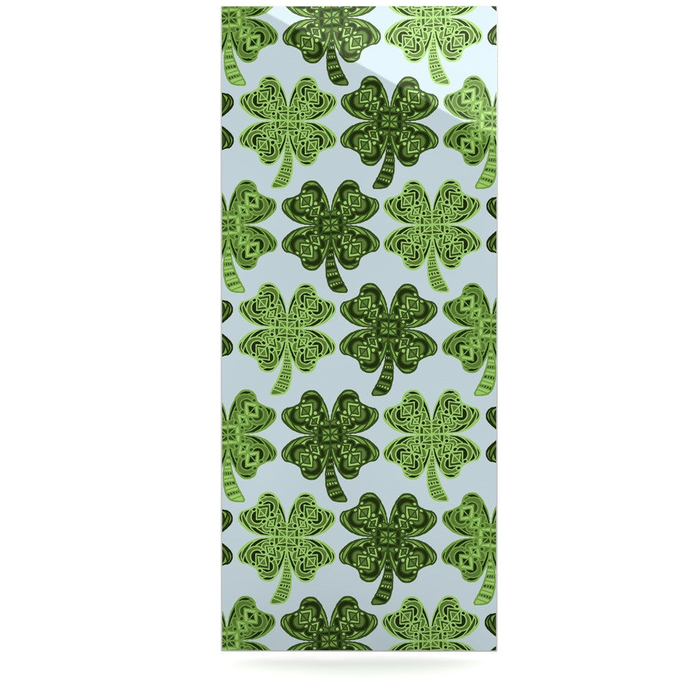 "Art Love Passion ""Lucky You"" Green Shamrock Luxe Rectangle Panel - KESS InHouse  - 1"