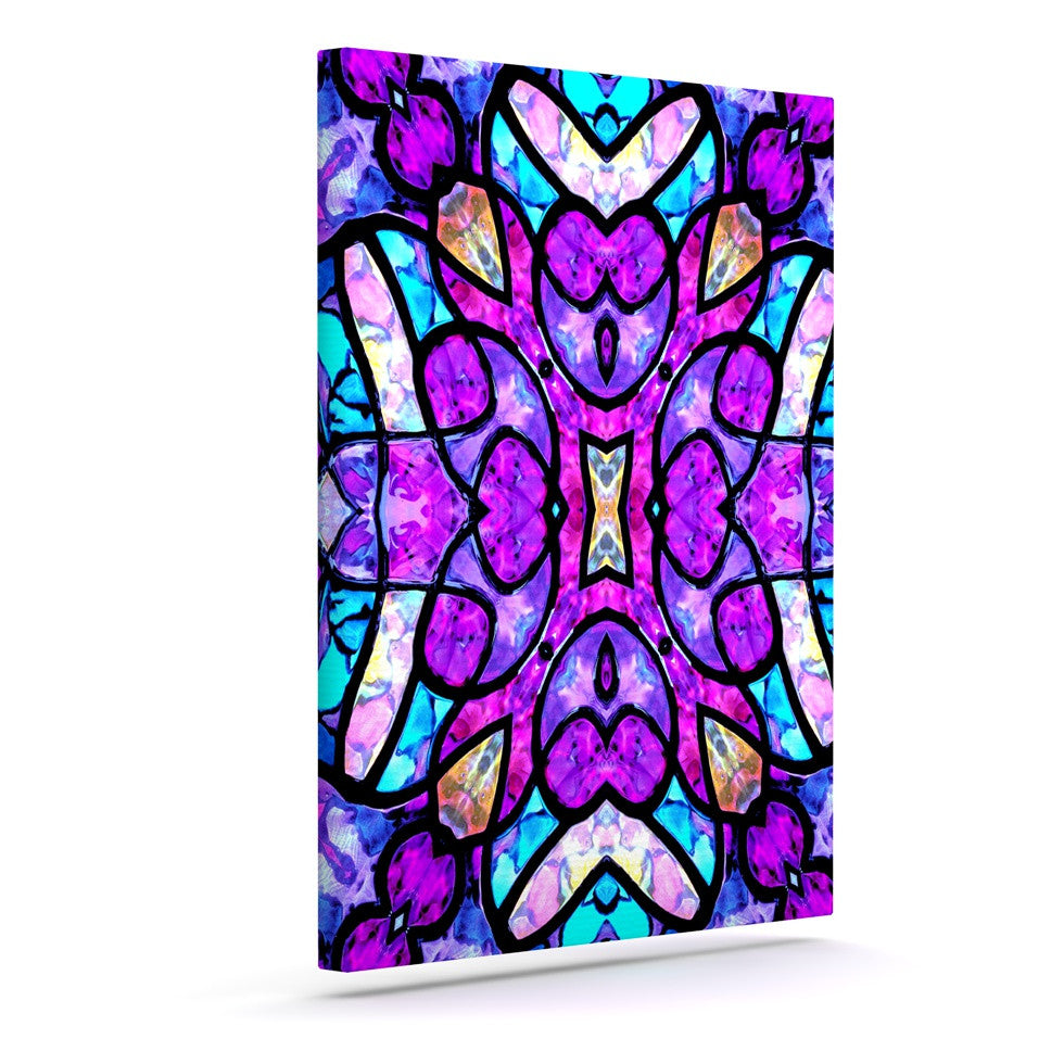 "Art Love Passion ""Kaleidoscope Dream"" Pink Purple Canvas Art - KESS InHouse  - 1"