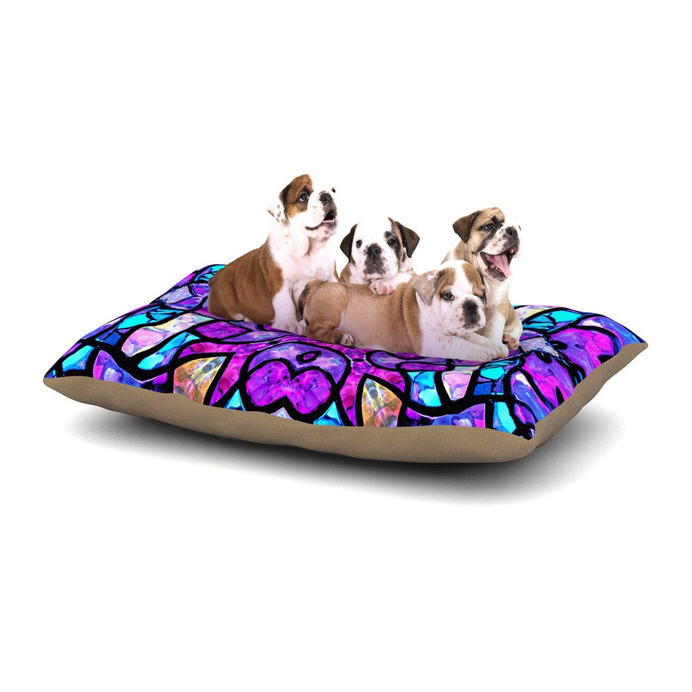 "Art Love Passion ""Kaleidoscope Dream"" Pink Purple Dog Bed - KESS InHouse  - 1"