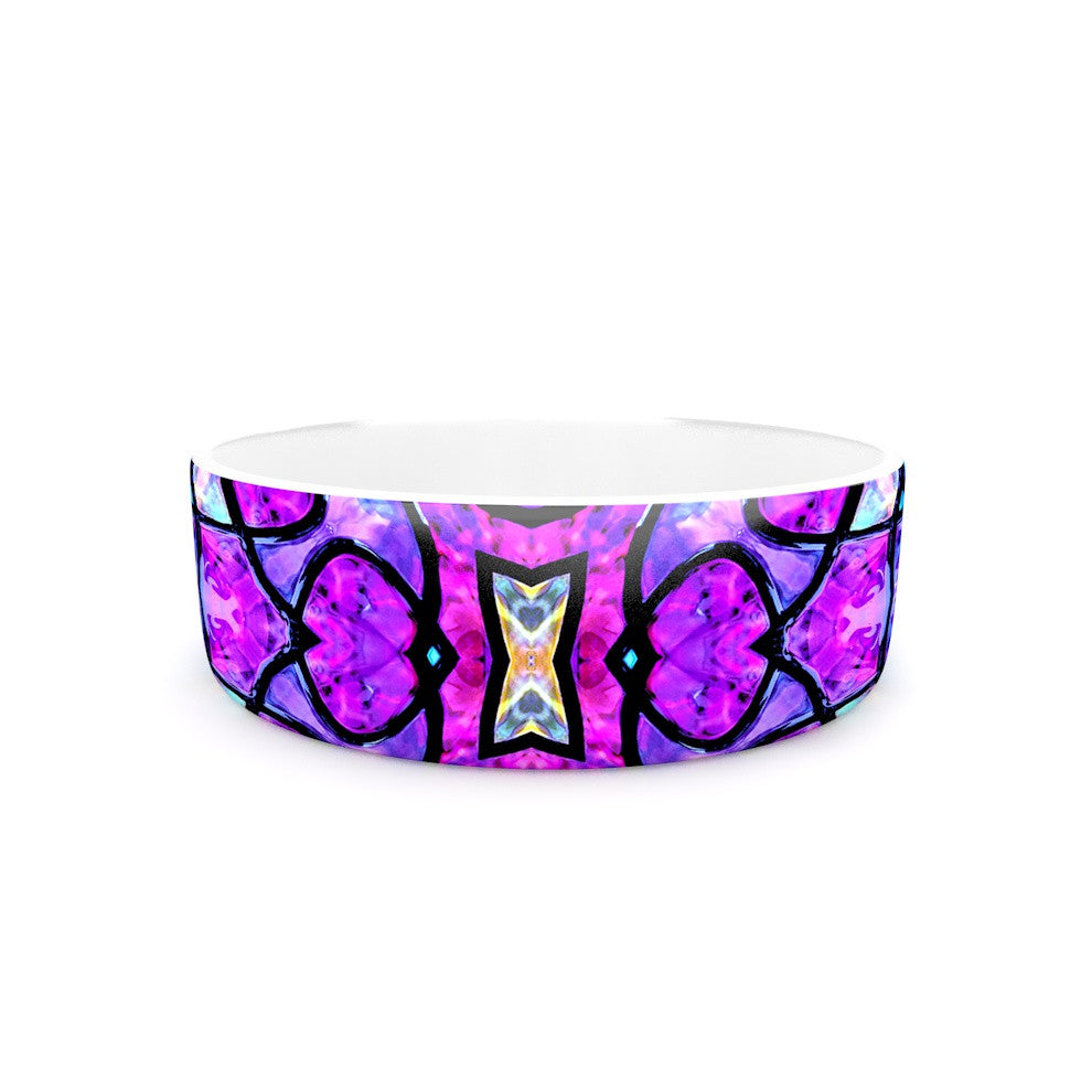 "Art Love Passion ""Kaleidoscope Dream"" Pink Purple Pet Bowl - KESS InHouse"