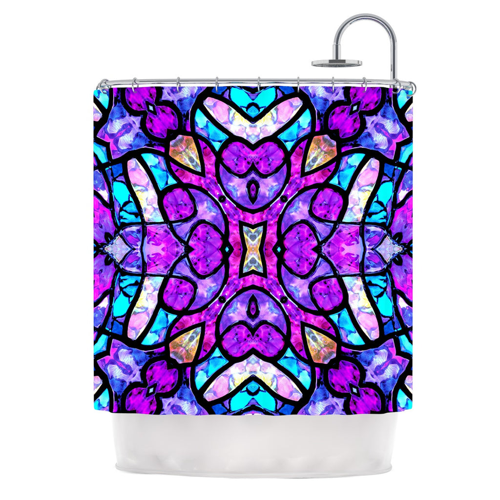 "Art Love Passion ""Kaleidoscope Dream"" Pink Purple Shower Curtain - KESS InHouse"