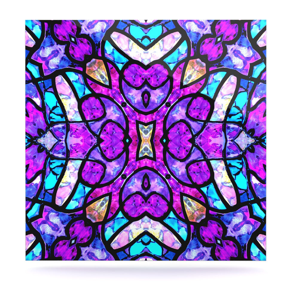 "Art Love Passion ""Kaleidoscope Dream"" Pink Purple Luxe Square Panel - KESS InHouse  - 1"