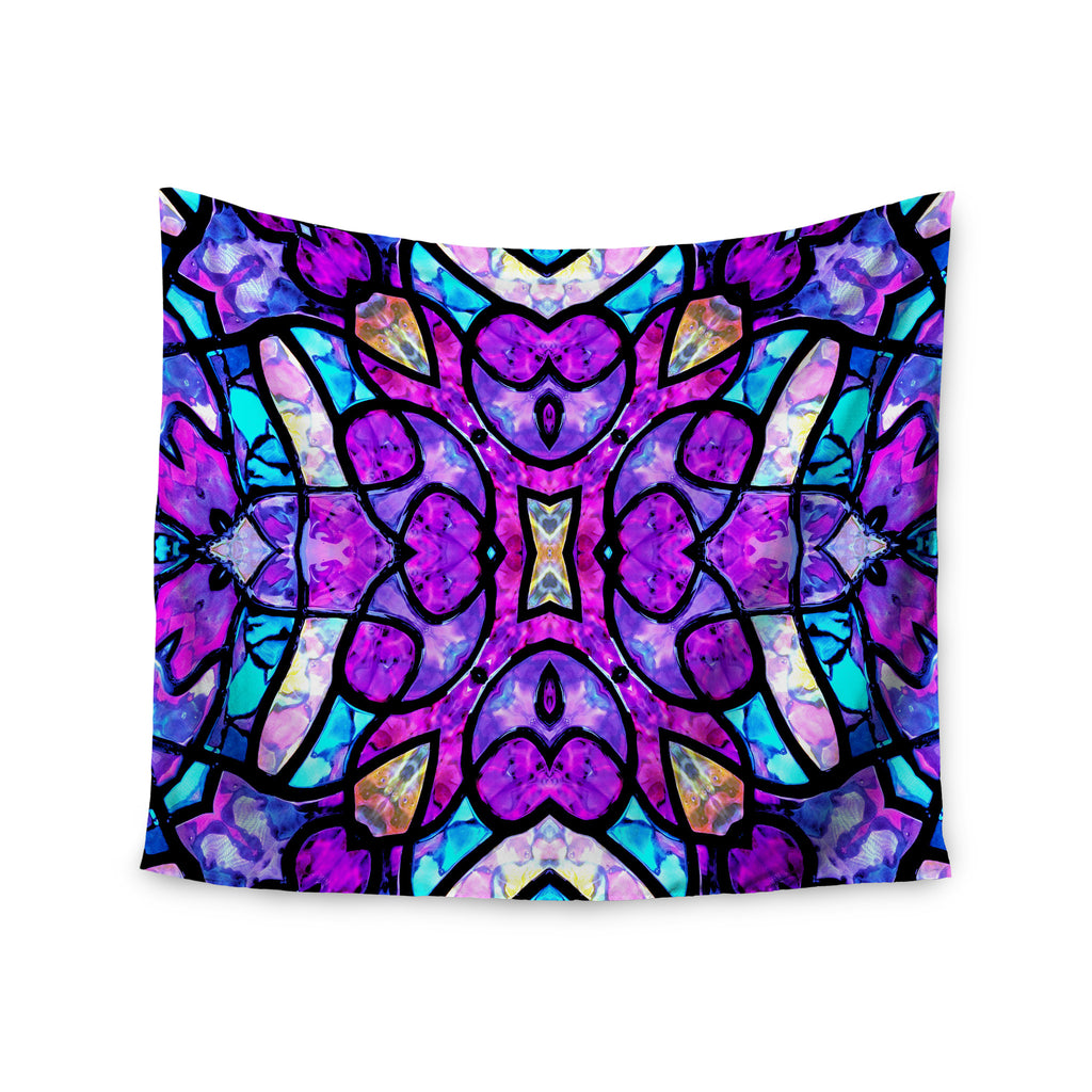 "Art Love Passion ""Kaleidoscope Dream"" Pink Purple Wall Tapestry - KESS InHouse  - 1"