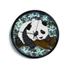 "Art Love Passion ""Panda"" Black White Modern Wall Clock"