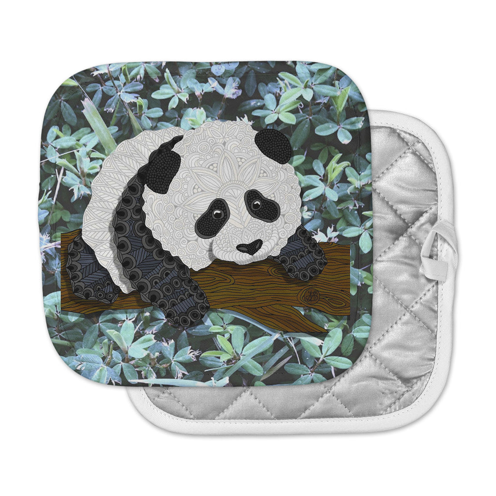"Art Love Passion ""Panda"" Black White Pot Holder"