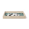 "Art Love Passion ""Baby Panda"" Black White Birchwood Tray"