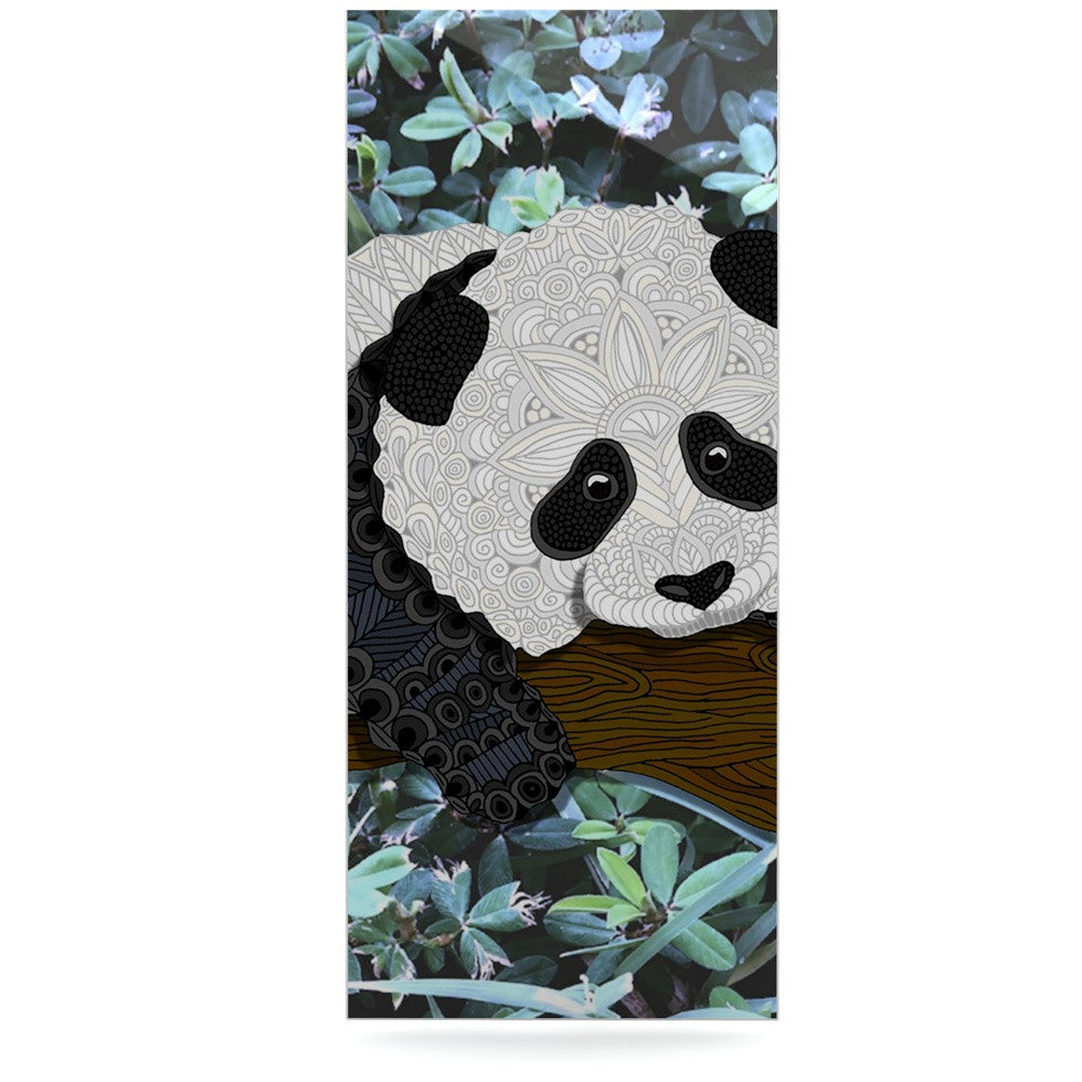 "Art Love Passion ""Panda"" Black White Luxe Rectangle Panel - KESS InHouse  - 1"
