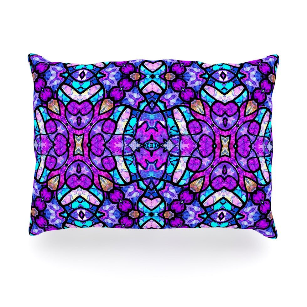 "Art Love Passion ""Kaleidoscope Dream Continued"" Purple Pink Oblong Pillow - KESS InHouse"