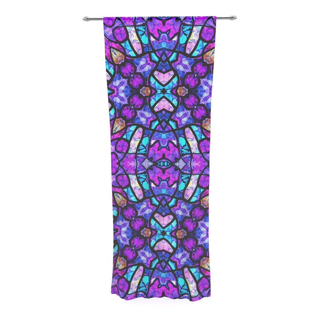 "Art Love Passion ""Kaleidoscope Dream Continued"" Purple Pink Decorative Sheer Curtain - KESS InHouse  - 1"