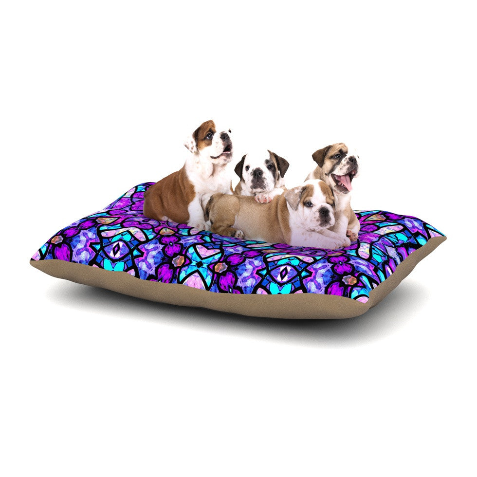 "Art Love Passion ""Kaleidoscope Dream Continued"" Purple Pink Dog Bed - KESS InHouse  - 1"