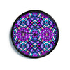 "Art Love Passion ""Kaleidoscope Dream Continued"" Purple Pink Modern Wall Clock"