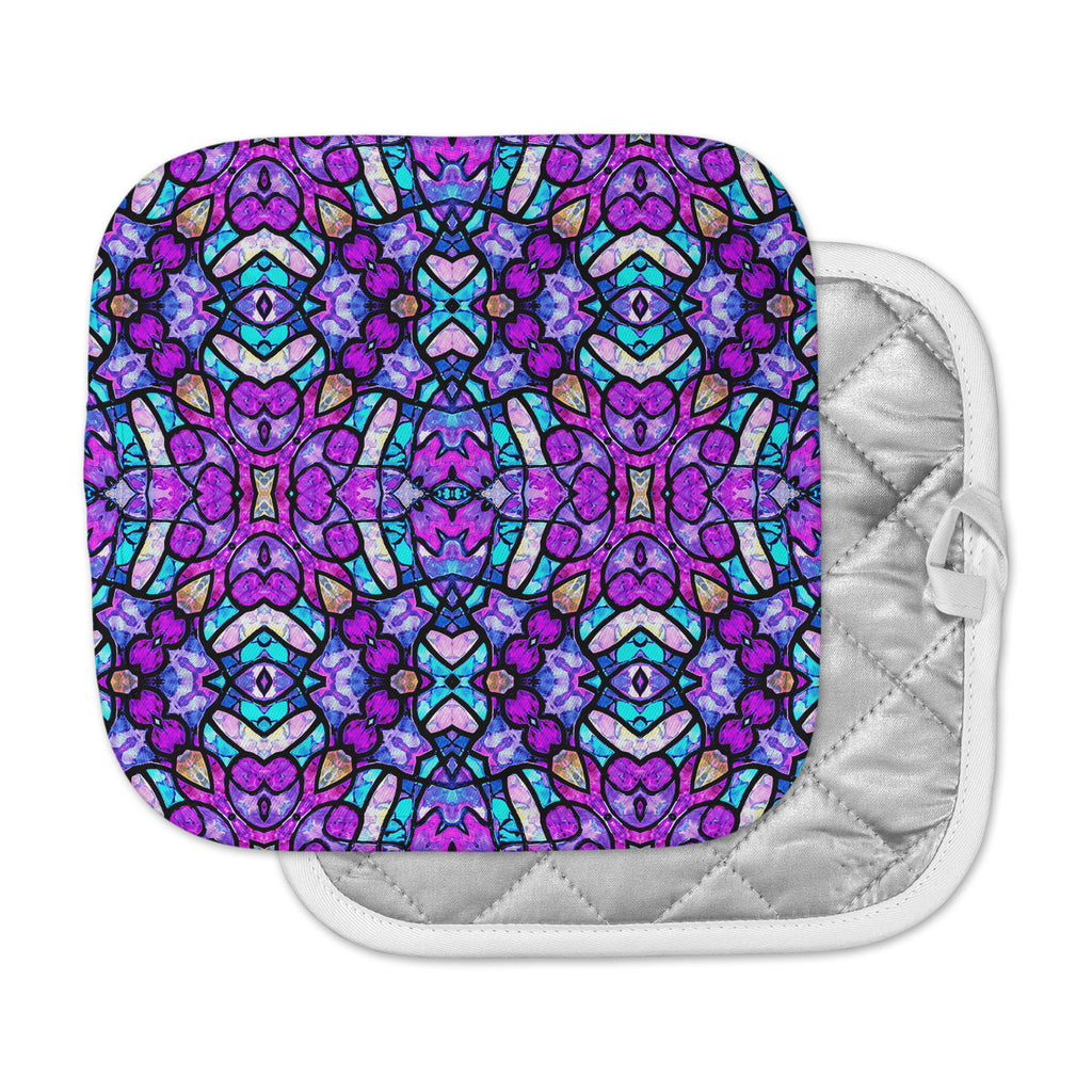 "Art Love Passion ""Kaleidoscope Dream Continued"" Purple Pink Pot Holder"