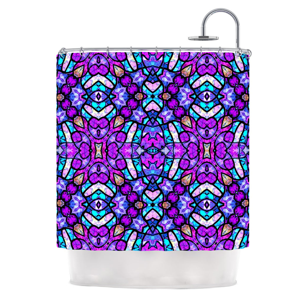 "Art Love Passion ""Kaleidoscope Dream Continued"" Purple Pink Shower Curtain - KESS InHouse"
