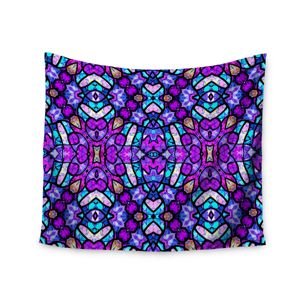 "Art Love Passion ""Kaleidoscope Dream Continued"" Purple Pink Wall Tapestry - KESS InHouse  - 1"