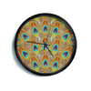 "Art Love Passion ""Peacock Pattern"" Brown Teal Modern Wall Clock"