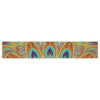 "Art Love Passion ""Peacock Pattern"" Brown Teal Table Runner - KESS InHouse  - 1"