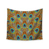 "Art Love Passion ""Peacock Pattern"" Brown Teal Wall Tapestry - KESS InHouse"