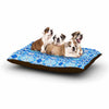 "Art Love Passion ""Blue Diamonds"" Blue Aqua Dog Bed - KESS InHouse  - 1"