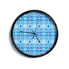 "Art Love Passion ""Blue Diamonds"" Blue Aqua Modern Wall Clock"
