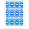 "Art Love Passion ""Blue Diamonds"" Blue Aqua Fine Art Gallery Print - KESS InHouse"
