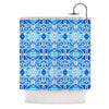 "Art Love Passion ""Blue Diamonds"" Blue Aqua Shower Curtain - KESS InHouse"