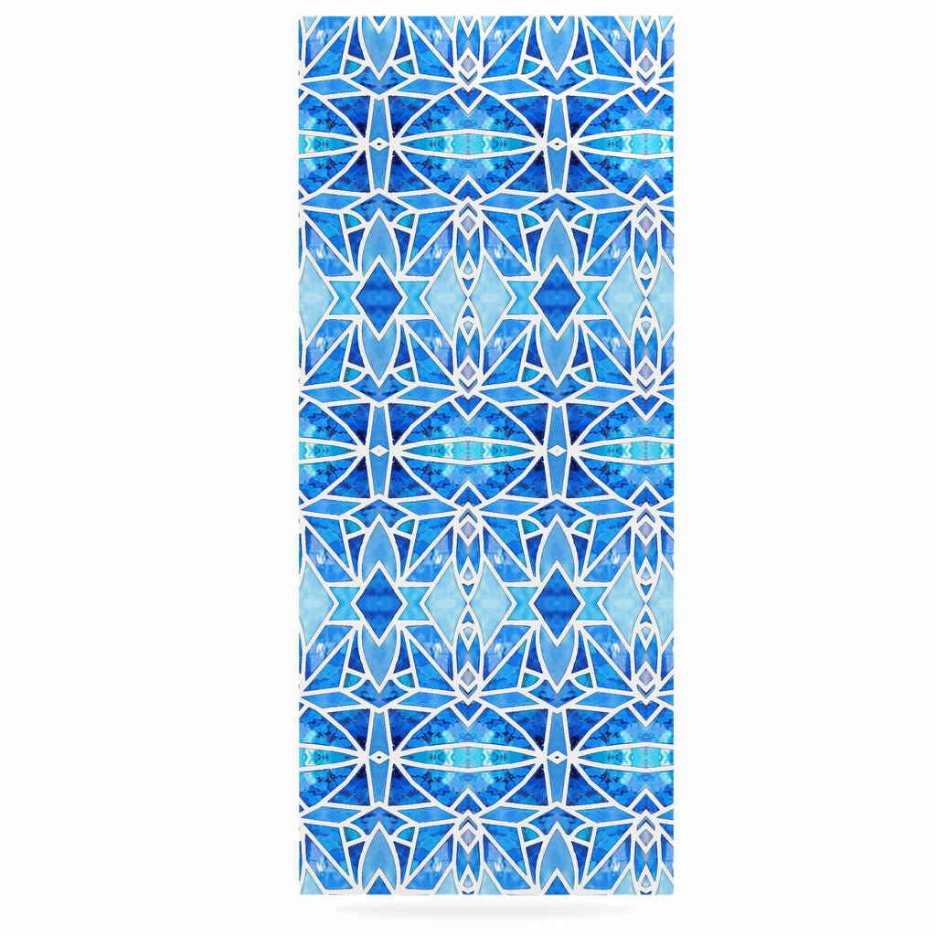 "Art Love Passion ""Blue Diamonds"" Blue Aqua Luxe Rectangle Panel - KESS InHouse  - 1"