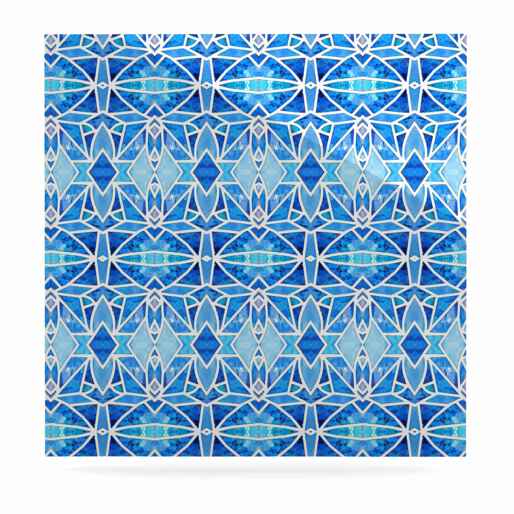 "Art Love Passion ""Blue Diamonds"" Blue Aqua Luxe Square Panel - KESS InHouse  - 1"