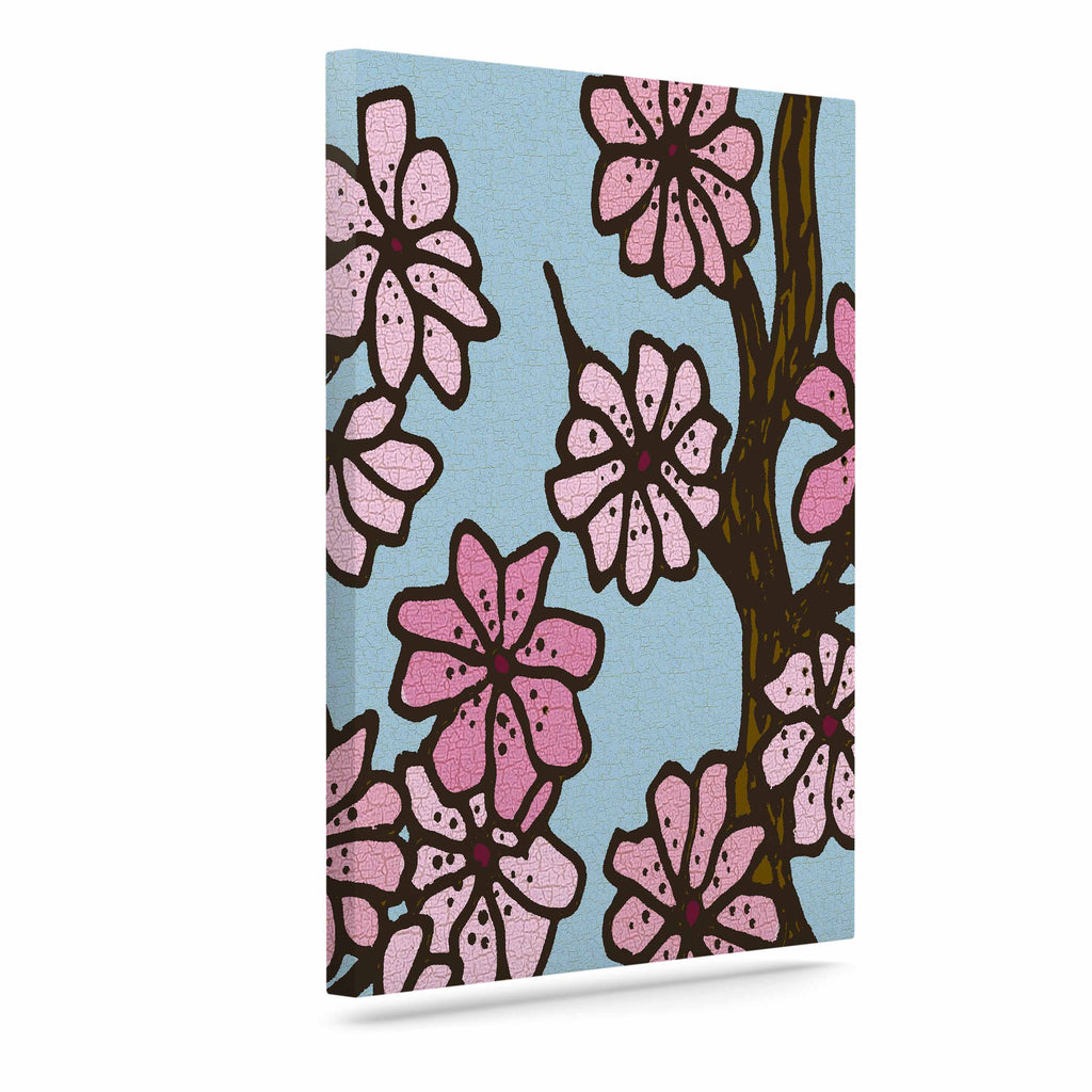 "Art Love Passion ""Cherry Blossom Day"" Floral Illustration Canvas Art - KESS InHouse  - 1"