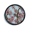 "Art Love Passion ""Cherry Blossom Day"" Floral Illustration Modern Wall Clock"