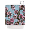 "Art Love Passion ""Cherry Blossom Day"" Floral Illustration Shower Curtain - KESS InHouse"