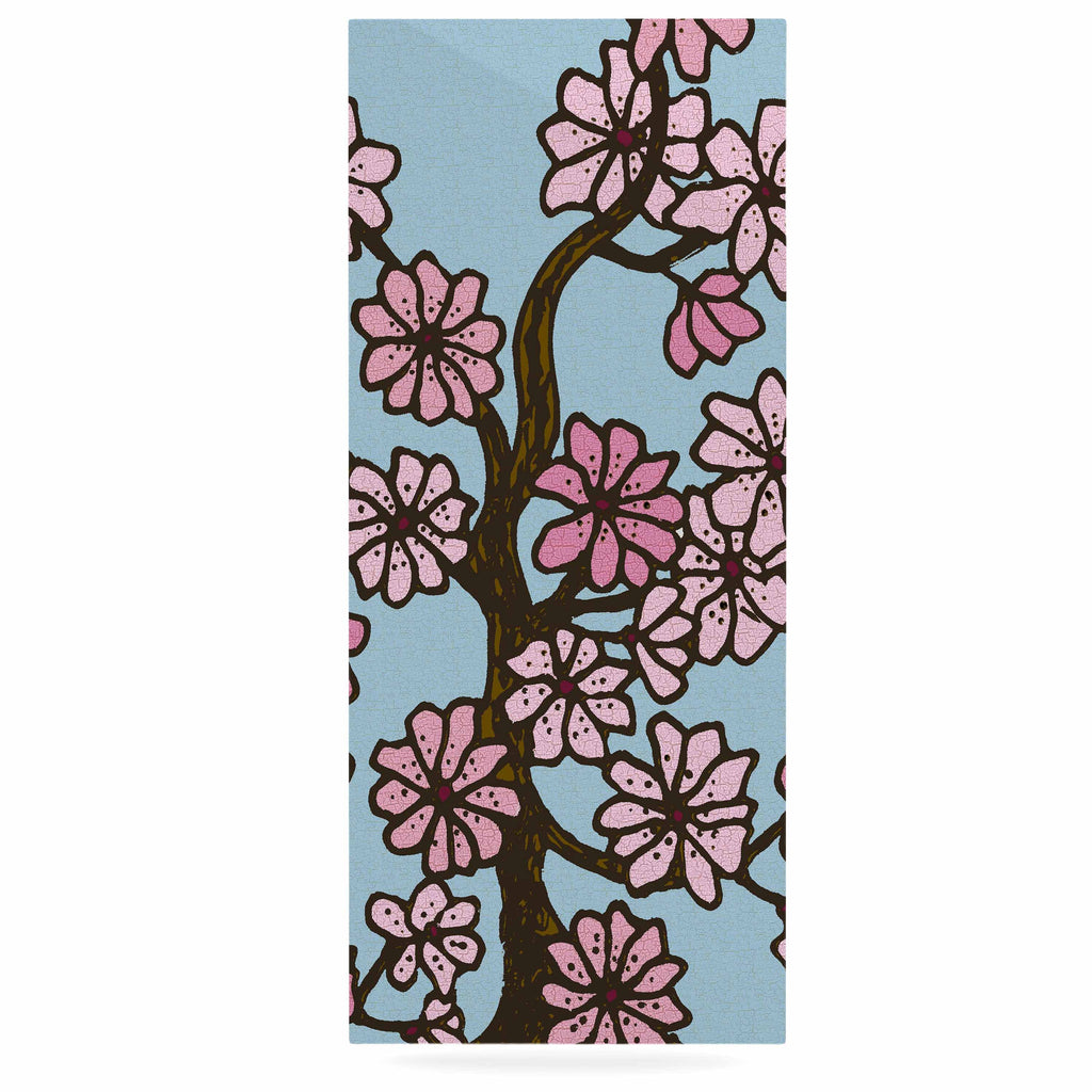 "Art Love Passion ""Cherry Blossom Day"" Floral Illustration Luxe Rectangle Panel - KESS InHouse  - 1"