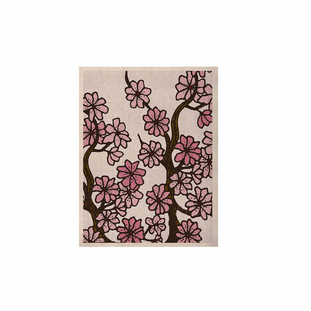 "Art Love Passion ""Cherry Blossoms"" White Pink KESS Naturals Canvas (Frame not Included) - KESS InHouse  - 1"