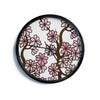 "Art Love Passion ""Cherry Blossoms"" White Pink Modern Wall Clock"