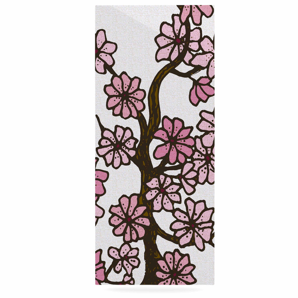 "Art Love Passion ""Cherry Blossoms"" White Pink Luxe Rectangle Panel - KESS InHouse  - 1"