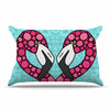 "Art Love Passion ""Pink Flamingos"" Blue Magenta Pillow Sham - KESS InHouse  - 1"