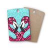 "Art Love Passion ""Pink Flamingos"" Blue Magenta Rectangle Wooden Cutting Board"